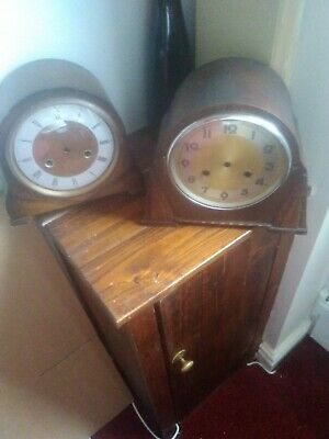 2 Antique mantle clock cases