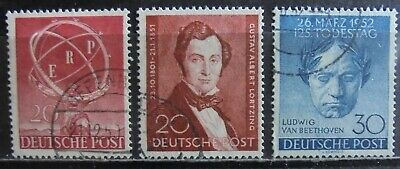 GERMANY (Berlin) 1950-52 Complete Issues 3 Used