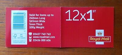 Genuine Royal Mail 12 x BRAND NEW 1ST First Class Stamps -  FREE UK Postage