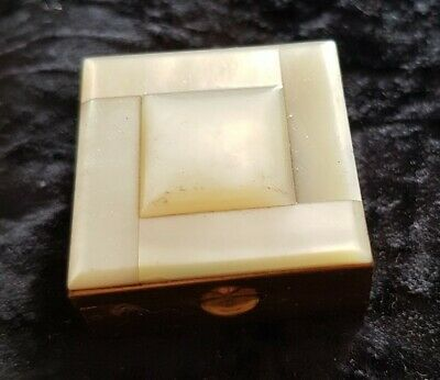 Mother Of Pearl Vintage Pill Box