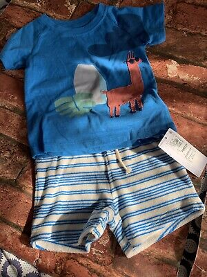 marks and spencer M&S Baby Boys 2 Piece Summer Set 6-9 Months New