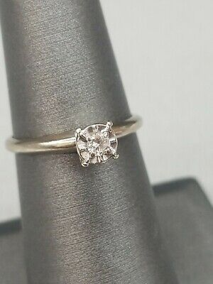 14kt White Gold Diamond Ring Size 6.5