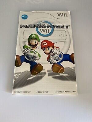 MARIO KART Wii GAME INSTRUCTION MANUAL INSERT BOOKLET