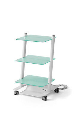 Cart With Three Glass Shelves