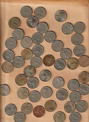 50 X Old Large Decimal Ten Pence Coins