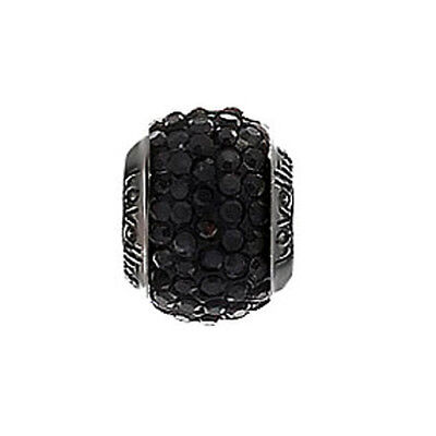 Lovelinks Sterling Silver Rhodium  and Crystal Charm Link 2183992-24 rrp £45.95