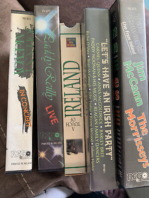 Lot Of Pre-owned Irish Vhs Tapes