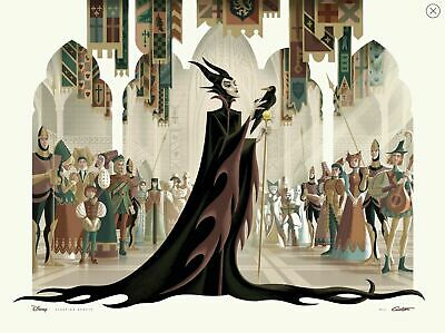 "GEORGE CALTSOUDAS ""MALEFICENT"" Fine Art Giclee 24""x18"" /125 IN-HAND SHIPS NOW"