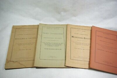 1880-1899 Merrimack County New Hampshire Commissioners Reports Lot of (4)