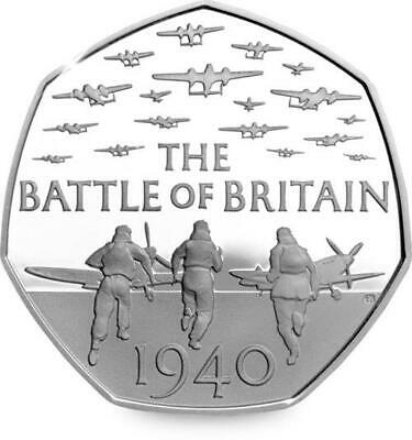 2015 BATTLE OF BRITAIN 50P Coin. The Great British Coin Hunt. Fifty Pence Coin.
