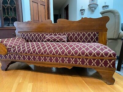 Rare Antique Fainting Couch makes into a bed