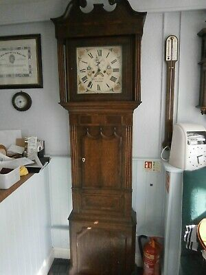 "Antique Longcase Grandfather Clock 8 Day John Smith WREXHAM 13"" Dial 86"" Tall"