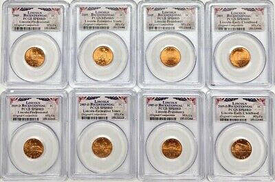 2009 Lincoln Penny Bicentennial 8 Coin Set PCGS SP68 Red P & D Registry Coins