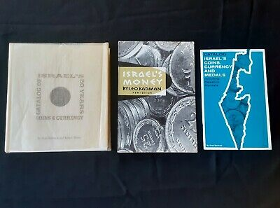 3 Old Israel Coins & Currency Catalog Books by Fred Bertram Money & Medals