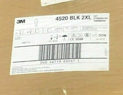 3M 4520-BLK-2XL Protective Coverall CASE OF 25