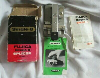 Vintage Single-8 Splicer Fujica in Box with Instructions