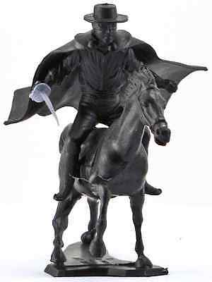 Dulcop Mounted Zorro character - 60mm unpainted plastic with horse, cape, sword