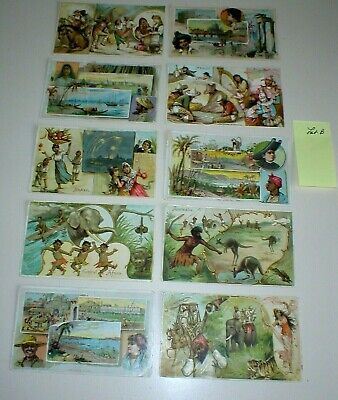 Antique 1800'S Arbuckle Trading Cards Lot B (10 Cards), International Set Great!