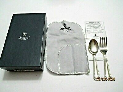 Waterford Sterling Silver Child's Spoon & Fork with pouch & box  51 grams