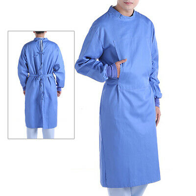 Unisex Medical Washable Isolation Gown Surgical Gown Lab Gown with Elastic Cuff