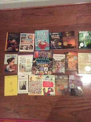 Lot of 19 Newberry Winning Kid Children Chapter Books And Assorted Books