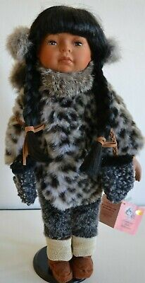 """Tradition Dolls Collection Eskimo with Baby - Retired X180357 18"""" Porcelain Doll"""