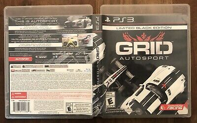 GRID Autosport Limited Black Edition Sony PlayStation 3 PS3 Complete CIB NM