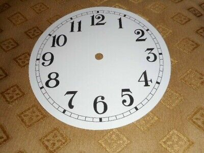 """Round Paper (Card) Clock Dial - 5"""" MINUTE TRACK - Arabic - GLOSS WHITE - Parts"""