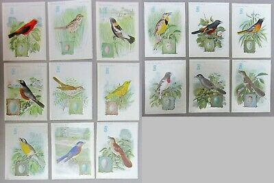 Trade Cards Bird Singer Sewing Machine 15 different 1926-31 good condition