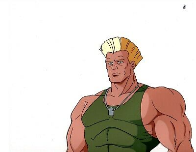 Street Fighter Production Anime Animation Cel Guile 2