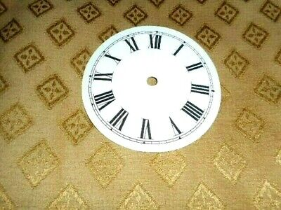 """Round Paper (Card) Clock Dial - 2 1/2"""" MINUTE TRACK - Roman-GLOSS WHITE -Parts"""