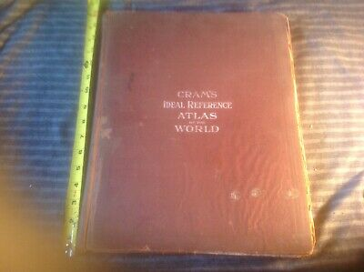 1927 Cram's Ideal Reference Atlas of the World colored maps