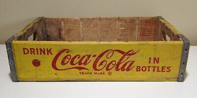Vintage Coca Cola Soda wood crate yellow red paint Portland Oregon 1965
