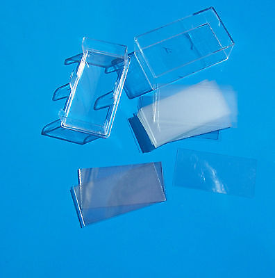 24 x 50mm MICROSCOPE COVER SLIPS (approx 100) new, ALL GLASS Cover slips
