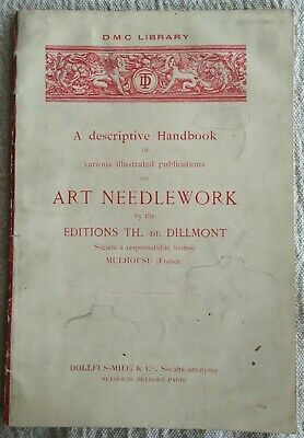 Antique Dolfus Mieg & Co. Art Needlework Booklet DMC Library France 1934