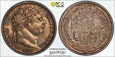 1817 Great Britain Sixpence PCGS ms64 S-3791 Silver 6 Pence Registry Coin