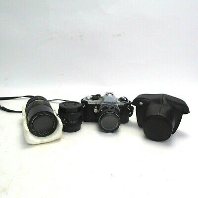 Vintage Pentax Film Camera and Two Lens
