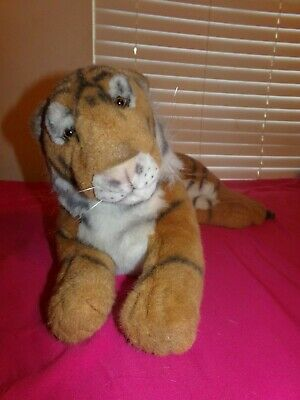 "Westcliff Collection 29"" Realistic Laying Bengal Tiger Plush Stuffed Animal"