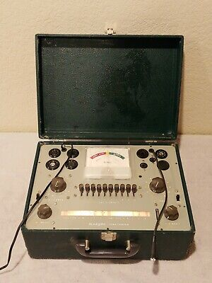 Vintage Allied Knight 600 Series Portable Amp Tube Tester
