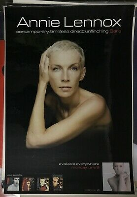 ANNIE LENNOX *VERY LARGE* AUSSIE Laminated SHOP DISPLAY POSTER Bare EURYTHMICS