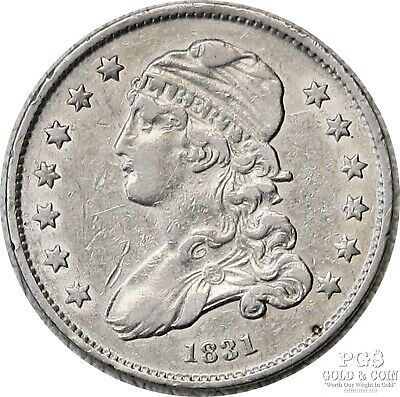 1831 Capped Bust Quarter 25c Small Letters B-4 R-1 US Silver Coin 19018