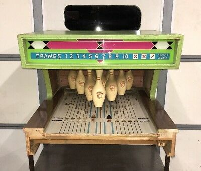 Vintage Chicago Coins GALAXY Puck Bowler Machine Section, Complete Pin Assembly!