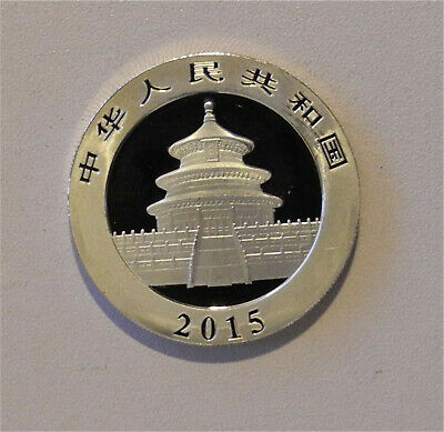 2015 China Panda 10 Yuan Silver Coin 30g   (1 oz)