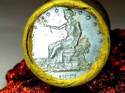 1877 Trade Top Quality End / Deep Cameo S End Morgan Dollar Roll$20 #Mm623