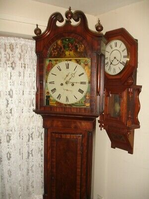 19Th Century  Arch Dial Scottish 8 Day  Longcase Clock . Grandfather Clock