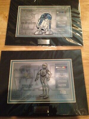 STAR WARS ACME CHARACTER KEY R2-D2 and C3PO LIMITED EDITION