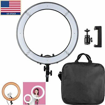 LED Ring Light with Stand 5500K Dimmable LED Lighting Makeup Youtube Live+Stand