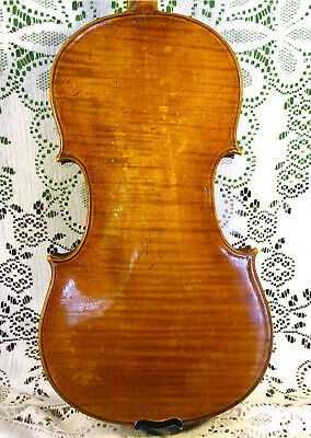Old Antique Violin Treffle Gervais Boston 1917 w/ Bow in Case! *Video 4/4