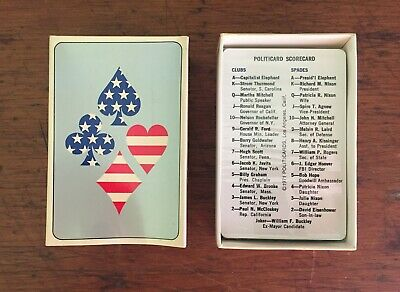 1971 Politicards Sealed Deck With Box Good Shape