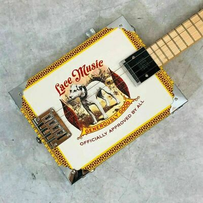 LACE MUSIC PRODUCTS Electric Cigar Box Guitar 4 String Used w/Hard Case